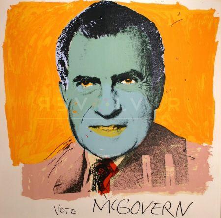 シルクスクリーン Warhol - Vote Mcgovern 84