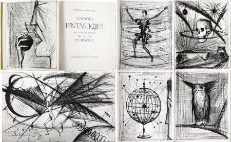 挿絵入り本 Buffet - VOYAGES FANTASTIQUES AUX ÉTATS ET EMPIRES DE LA LUNE ET DU SOLEIL (Cyrano de Bergerac) 1958.