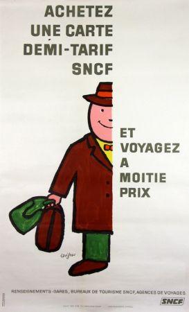 リトグラフ Savignac - Voyagez à Moitié Prix