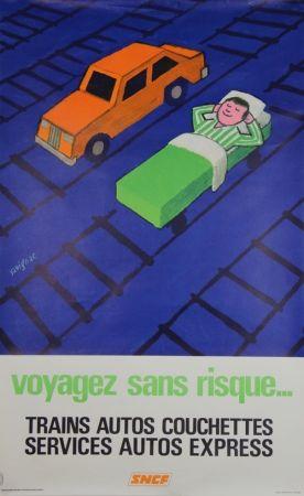 リトグラフ Savignac - Voyagez sans Risques
