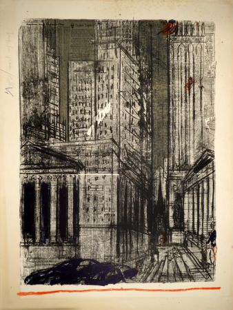 リトグラフ Varlin (Guggenheim, Willy) - Wall-Street