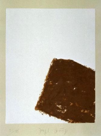 リトグラフ Beuys - Wandernde Kiste Nr. 3