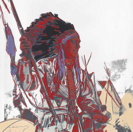 シルクスクリーン Warhol - War Bonnet Indian (Fs Ii.373)