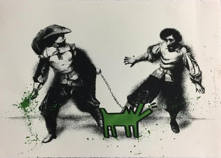 シルクスクリーン Mr Brainwash - Watch Out! (Green)