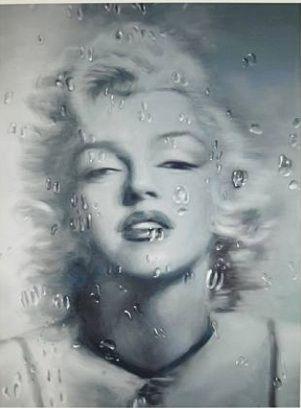 シルクスクリーン Qian - Water Drop Marilyn