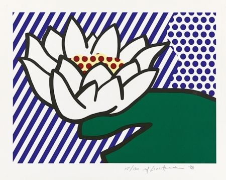 シルクスクリーン Lichtenstein - Water Lily
