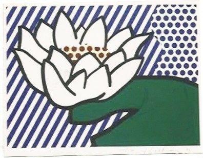 シルクスクリーン Lichtenstein - Water Lily