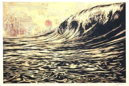 シルクスクリーン Fairey - Wave