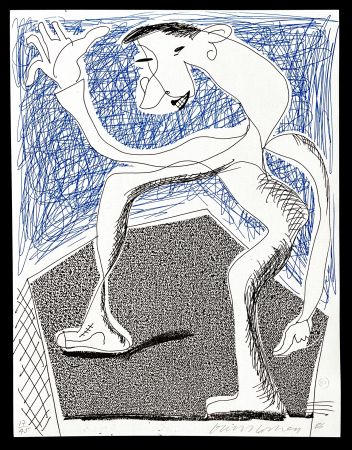 技術的なありません Hockney -  Waving, April  1986