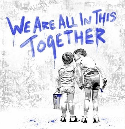 シルクスクリーン Mr Brainwash - We Are All In This Together