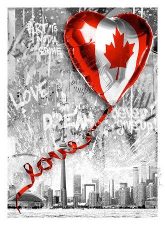シルクスクリーン Mr. Brainwash - We Love Canada