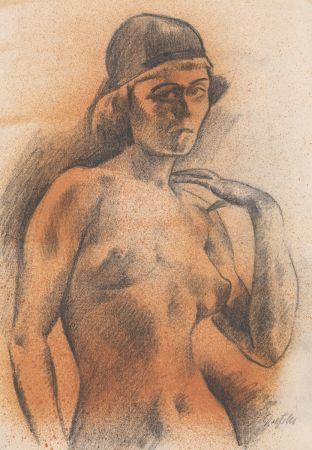 技術的なありません Dressler - Weiblicher Akt mit Kopfbedeckung