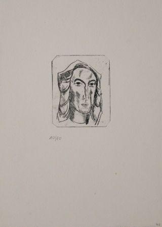 彫版 Tappert - Weiblicher Kopf mit Tuch