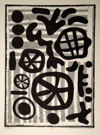 リノリウム彫版 Nebel - Werknummer 595/1964