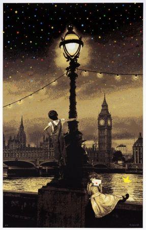 シルクスクリーン Roamcouch - When you wish upon a star - London (sepia edition)