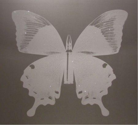 シルクスクリーン Robierb - White Bullet Fly N-1 on Silver