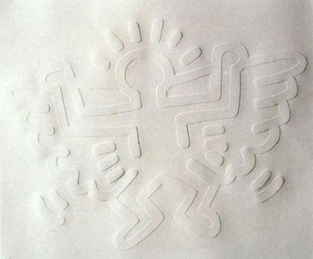 シルクスクリーン Haring - White Icons: Angel