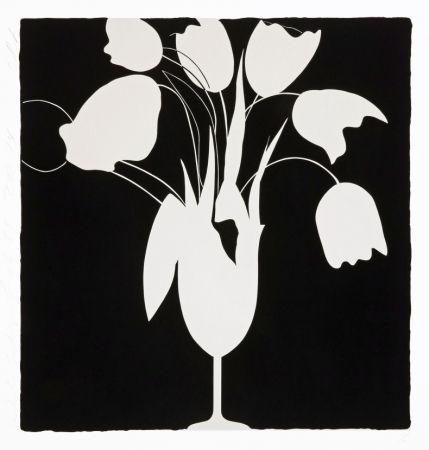シルクスクリーン Sultan - White Tulips and Vase