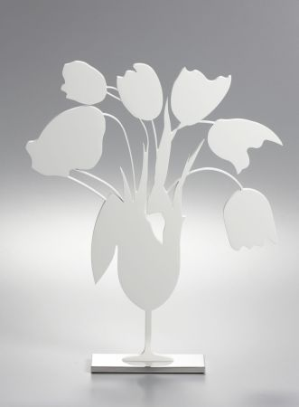 技術的なありません Sultan - White tulips and vase, April 4, (Sculpture)