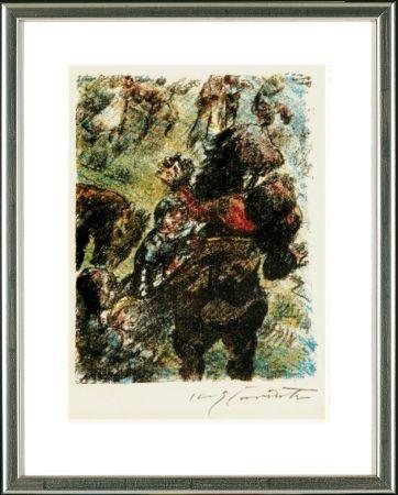 リトグラフ Corinth - Wilhelm Tell. Gesslers Tod