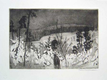 エッチングと アクチアント Hoffmann - Winter Wanderer