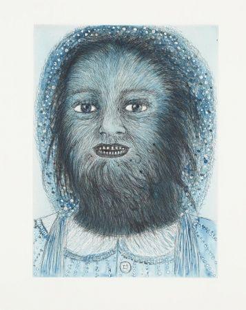 エッチングと アクチアント Smith - Wolf Girl, from the Blue Prints series