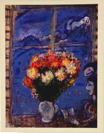 オフセット Chagall - Woman At The Window Gouaches Matisse Gallery New York 1968