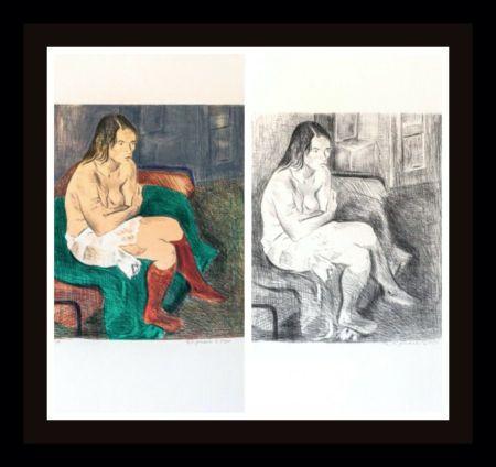 リトグラフ Soyer - Woman in Red Stockings Portfolio