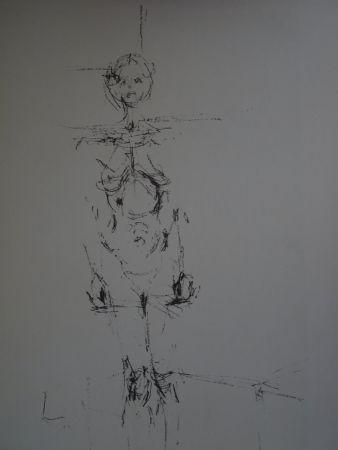 リトグラフ Giacometti - Woman standing