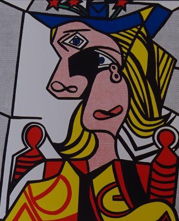 シルクスクリーン Lichtenstein - Woman with flowered hat