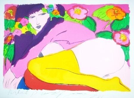 リトグラフ Ting - Women19