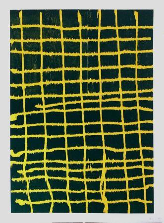木版 Forg - Woodcut Yellow Green