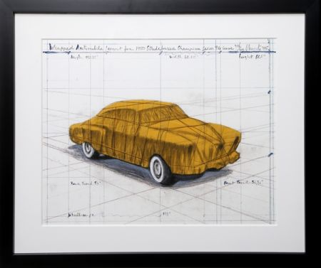 シルクスクリーン Christo - Wrapped Automobile (Project for 1950 Studebaker Champion Series)