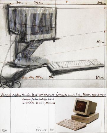 リトグラフ Christo - Wrapped Display Monitor