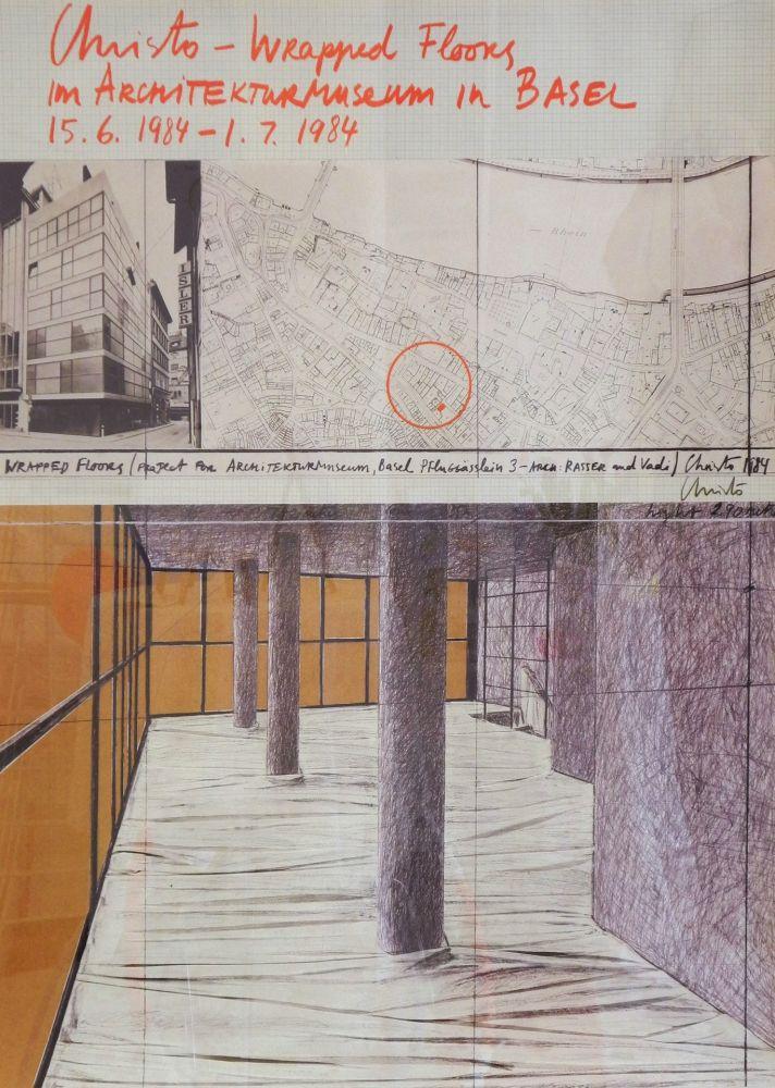 掲示 Christo - Wrapped floors Architekturmuseum Basel