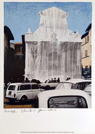 シルクスクリーン Christo & Jeanne-Claude - Wrapped Fountain Spoleto