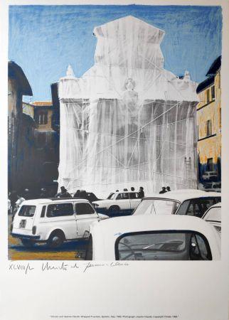 多数の Christo - Wrapped fountain Spoleto