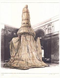 リトグラフ Christo - Wrapped Monument to Leonardo