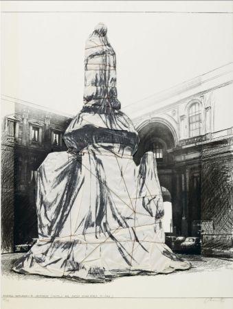 多数の Christo - Wrapped Monument To Leonardo