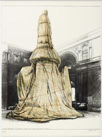 多数の Christo - WRAPPED MONUMENT TO LEONARDO