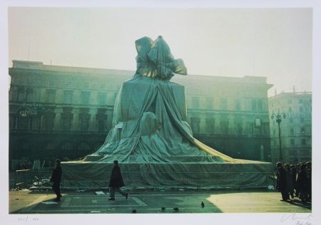 オフセット Christo - Wrapped Monument to Vittorio Emanuel