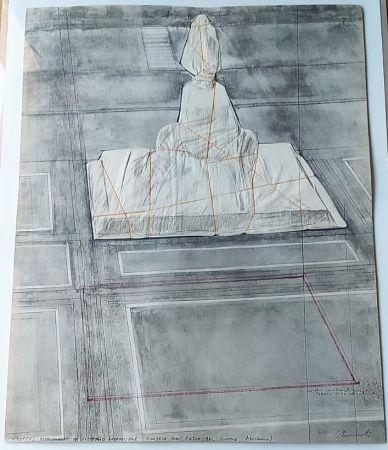 リトグラフ Christo - Wrapped monument to Vittorio Emmanuele
