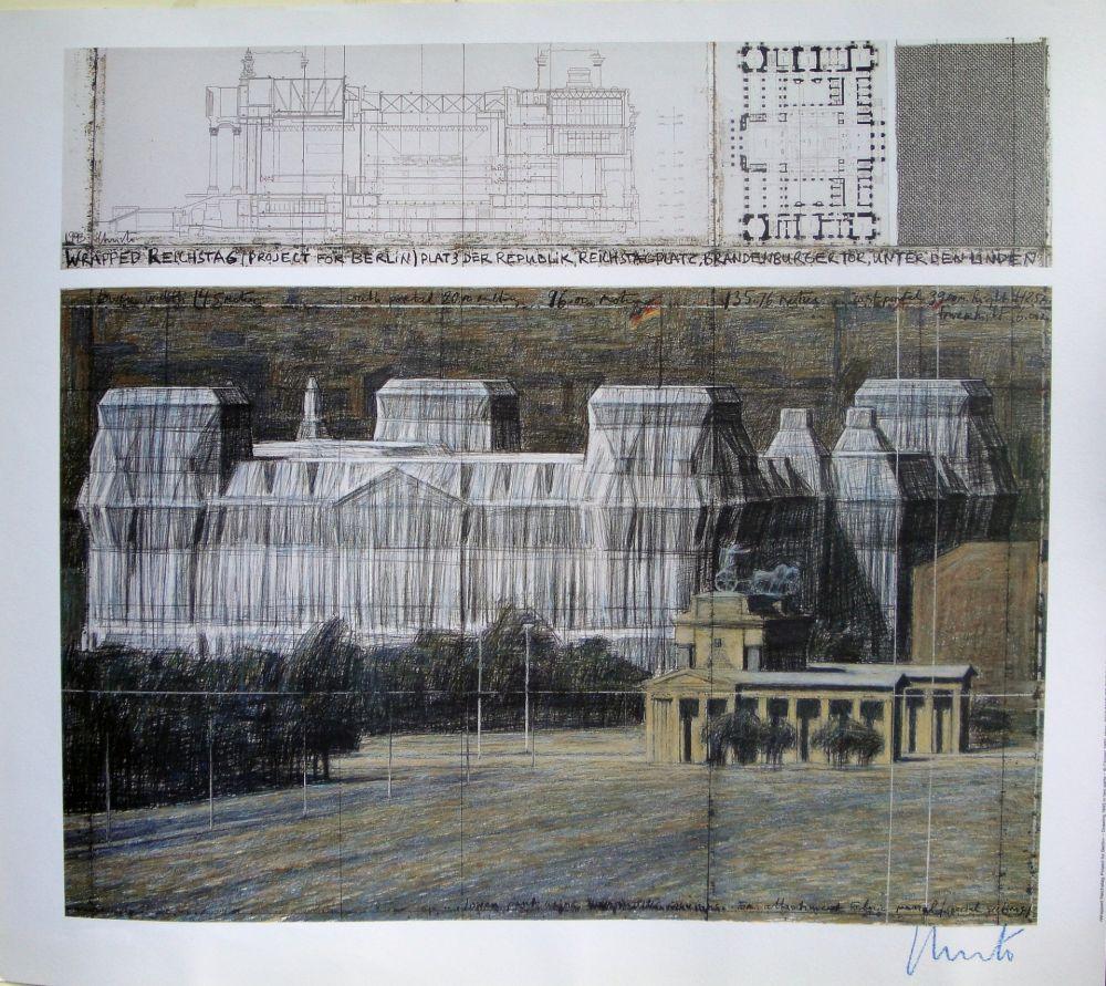 シルクスクリーン Christo - Wrapped Reichstag VI