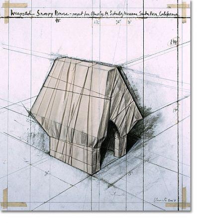 リトグラフ Christo - Wrapped Snoopy House