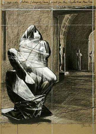 多数の Christo - Wrapped Statues, Sleeping Fawn, Project for the Glyptothek
