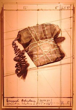 リトグラフ Christo - Wrapped Telephone