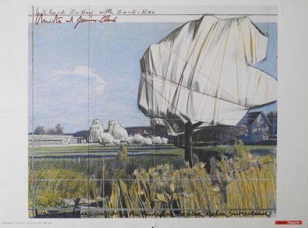 オフセット Christo - Wrapped Trees, Fondation Beyeler