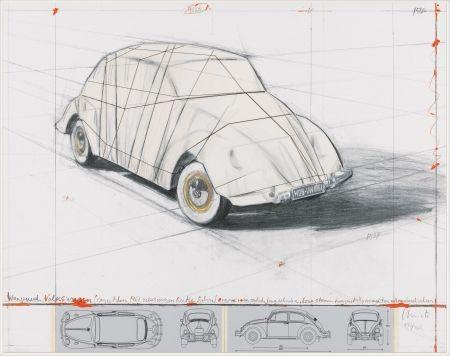 リトグラフ Christo - Wrapped Volkswagen (PROJECT FOR 1961 VOLKSWAGEN BEETLE SALOON)