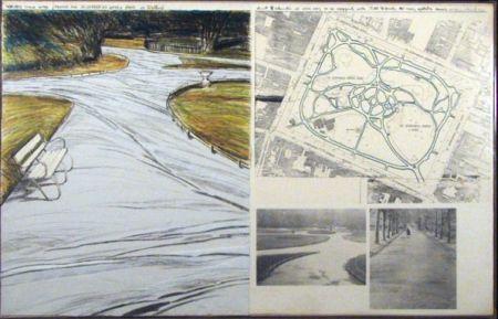 リトグラフ Christo - WRAPPED WALKWAYS/PROJECT FOR ST. STEPHEN'S GREEN PARK IN DUBLIN