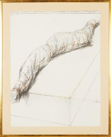 シルクスクリーン Christo - Wrapped woman - Project for the Institute of Contemporary Art, Philadelphia